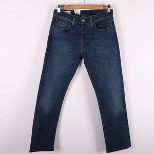 LEVI'S 513 Dark Blue Slim Straight Jeans NWT